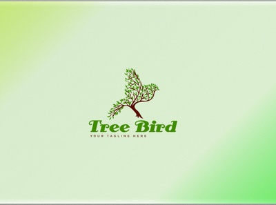 Tree Bird Logo design.