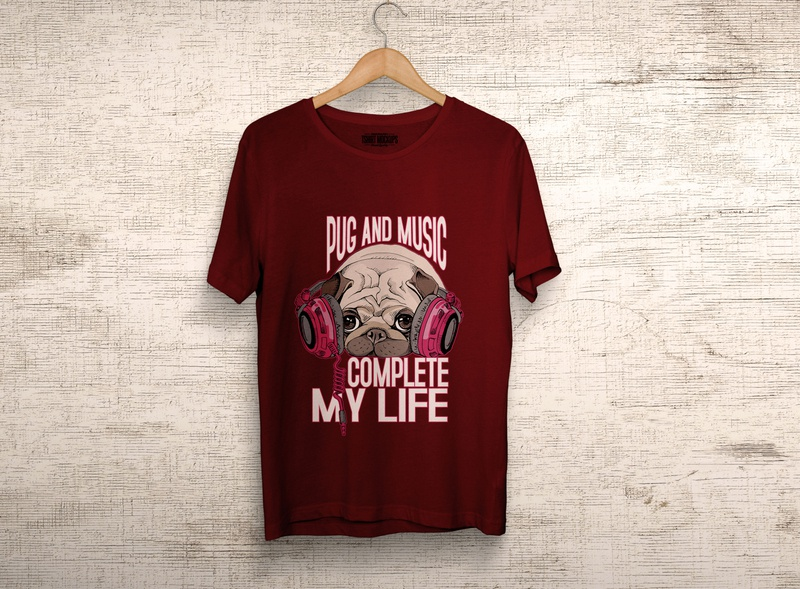 Pug and Music Complete My Life.