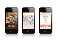 SHFT Food Tripping App Design