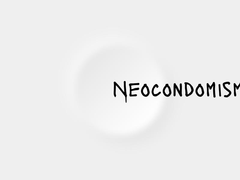 Neocondomism (Neomorphism) UI joke lol condom concept minimalism black and white typography trend neomorphism neomorphic flat illustration clean design logopron identity graphic design branding alexkazakov kazaligor