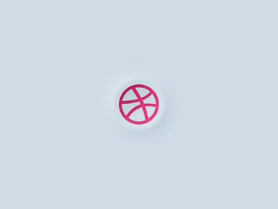 Neomorphic Dribbble Logo