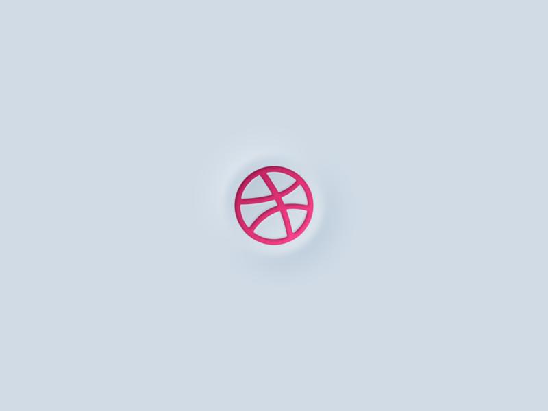 Neomorphism Dribbble Logo pop new 2020 2020 trend trending trend logo design icon vector illustration identity logopron mark graphic design logodesign logotype logo dribbble neomorphism neomorphic