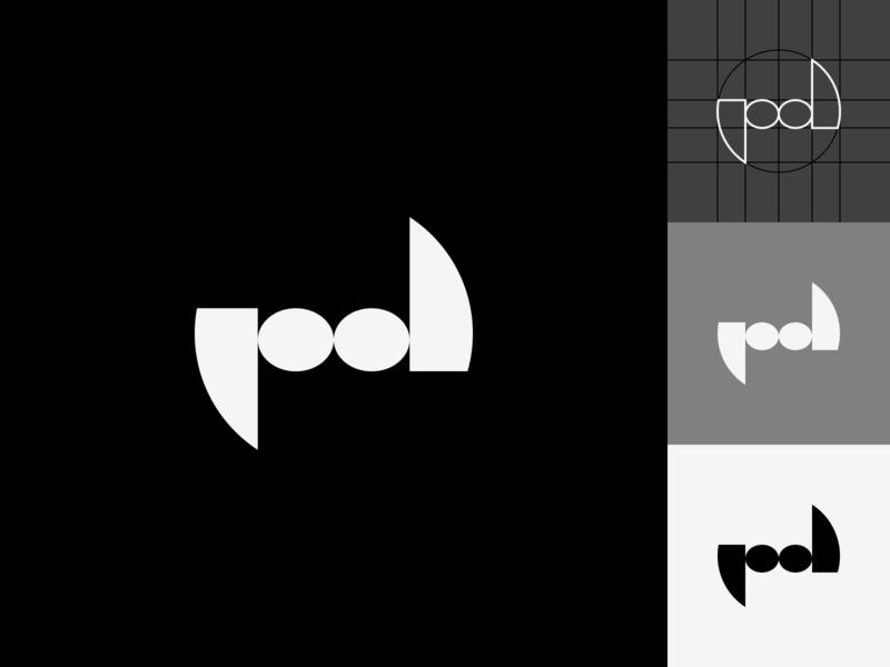 pd logo (poleznodesigno) express design geometric monochrome black and white geometry minimalism minimal clean branding vector flat mark design logopron identity graphic design logo design logodesign logotype logo