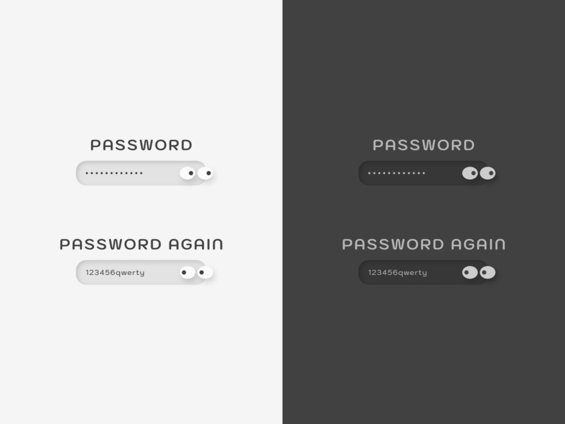 Visible Invisible Password Concept qwerty dark mode lightmode eyes invisible form password design ux design uxdesign ux  ui uxui ux ui  ux uiux ui design uidesign ui webdesign graphic design