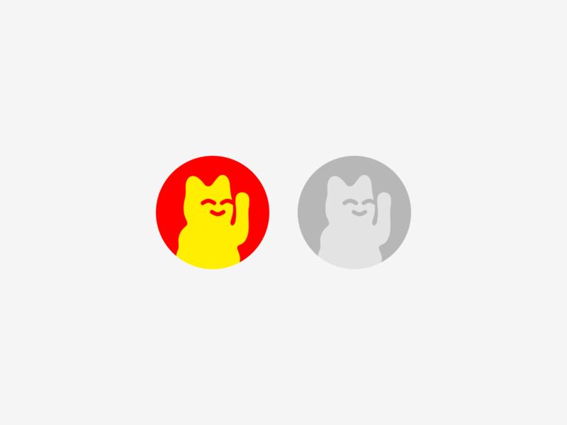 Maneki-neko 招き猫 Logo (beckoning cat) luck cat talisman east japanese culture japan beckoningcat logodesign logotype icon flat logo design clean logo mark branding logopron identity design graphic design