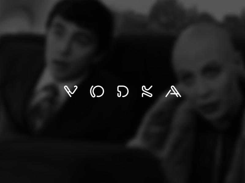 vodka cool omg wow awesome russia fusion merger creative flat minimal illustration typography mark identity branding graphic design logodesign logotype logo logopron