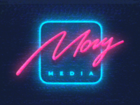 Mogu Media Podcast Logo inspiration 80s 90s awesome nostalgia glitch vhs retrowave retro synthwave vector logotype illustration typography mark graphic design logo branding identity logopron