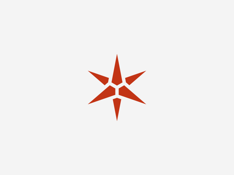 Zvezda MB Logo (star) illustration icon simple vector star red minimal mark logopron logo kazaligor identity graphic design geometric flat corel clean branding alexkazakov 2d
