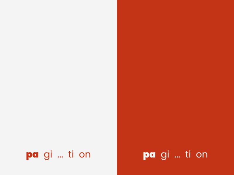 pa  gi  ...  ti  on  (pagination) typography design graphic design pagination minimal identity mark logopron logo kazaligor alexkazakov
