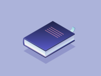 Stationary - Isometric icon design