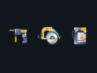 construction tool - gradient icon design