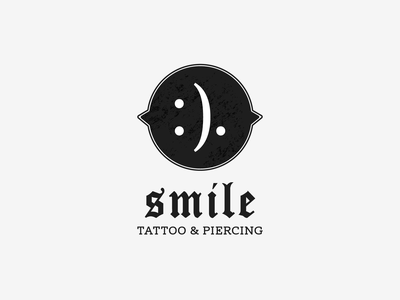 Smile — Tattoo & Piercing vector symbol logotype logo design logo branding brand design piercing tattoo smile :).