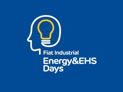 Fiat Industrial — Energy&EHS Days line environment light fiat profile face people bulb intelligence mind pictogram vector symbol logotype logo design logo branding brand design