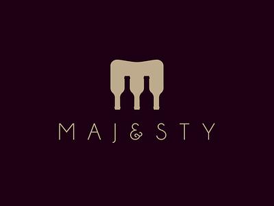 Majesty — Wine Bar m logo night bar wine bottle wine design pictogram vector symbol logotype logo design logo branding brand design