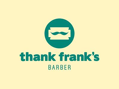 Thank Frank's — Barber Shop beard hipster rasor blade moustache barber shop design pictogram vector symbol logotype logo design logo branding brand design