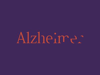Alzheimer — Nonprofit Organization association minimal alzheimer nonprofit typography typography logo lettering lettering logo design vector logotype logo design logo branding brand design