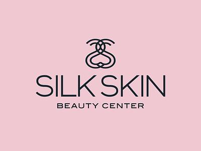 Silk Skin — Beauty Center letter logo beauty center curves beauty logo zen silhouette water minimal design pictogram symbol vector logotype logo design logo branding brand design