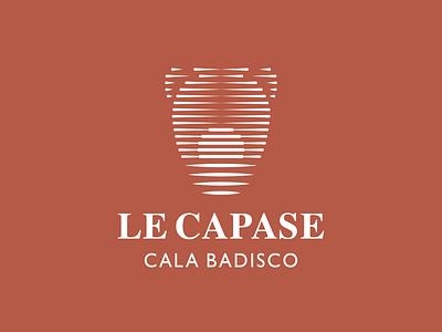 Le Capase — Resort in Puglia sea hotel italy sunset sunrise sun terracotta pot moon minimal design pictogram symbol vector logotype logo design logo branding brand design
