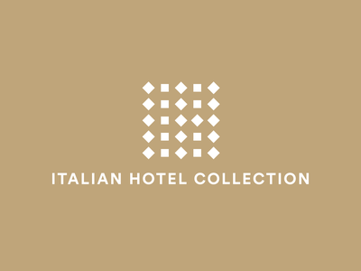 Italian Hotel Collection — Hotel Group resort groups modularity network diamond italy square hotel minimal pictogram design symbol vector logotype logo design logo branding brand design