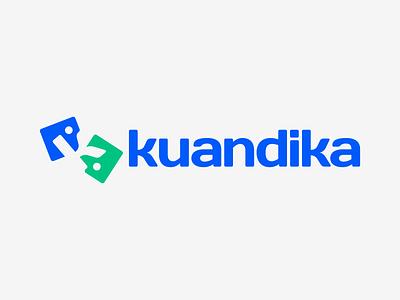 Kuandika — Social Media & News dialogue feeds news feed speak conversation blogger news social media letter logo minimal pictogram design symbol vector logotype logo design logo branding brand design