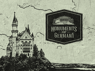Monuments of Germany - Visual Identity Design and Illustrations