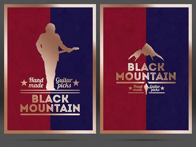 Black Mountain Hand Made Guitar Picks - Logo & Print Design