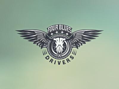 Four Blues Drivers - Logo Design