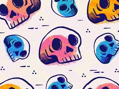 Quarantine Sketches skulls