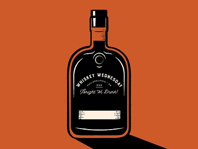 Whiskey Wednesday philadelphia drinking vector whiskey