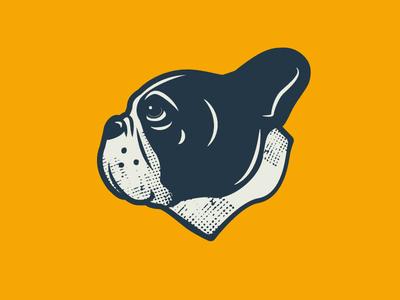 Frenchie Friday texture branding illustration french bulldog
