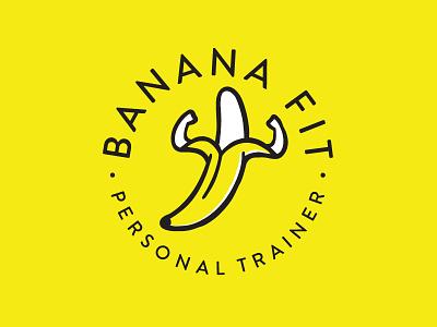 Banana Fit banana fitness logo branding