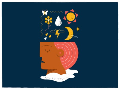 Mental Health poster texture philadelphia mental health illustration vector