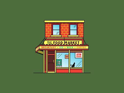 The One Stop Shop city bodega coffee beer philadelphia vector