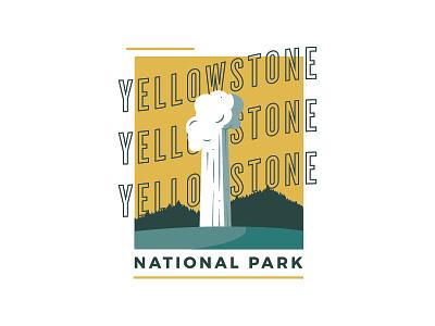 Yellowstone yellowstone national park coffee illustration vector