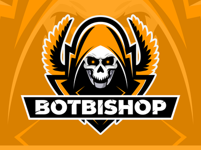 Bot Bishop Esports Avatar avatar minimal concept logo branding vector illustration design