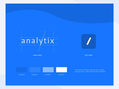 Analytix - Wordmark & App Icon finance logodesign design appicon app uiux uidesign logo branding iconography