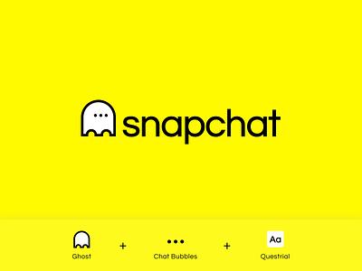 Snapchat Redesign Concept (for fun) logodesign typography uiuxdesign design brandidentity app icon logo uidesign iconography