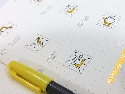 Icon Pack [6 Icons] branding wireframe illustation web icon interace sketch uxd uidesign ui pack