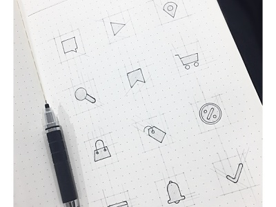 Ecommerce Icon Set ui interface web vector app illustration ux design iconography wireframe ui pack uidesign sketch branding