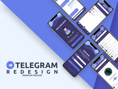 Telegram Redesign web ux design mobile app mobile design mobile ui redesign concept telegram