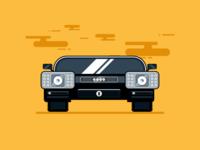 Flat Car Illustration in Adobe Illustrator #1