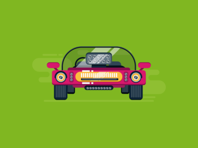 Flat Car Design in Adobe Illustrator #2