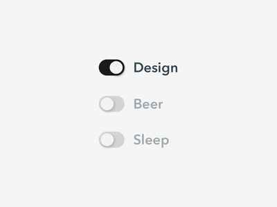15 On Off Switch lifestyle life sleep onoff switch onoff simple minimal clean design minimal app ui sketch dailyui