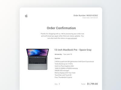 17 Email Receipt gray mac gradient card whitepaper white uidesign order receipt email receipt simple minimal clean design ui sketch dailyui
