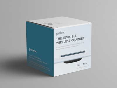 Invisible wireless charger cool goods product branding production box concept branding brand stylish simple gadget photoshop minimal clean logodesign logo package design package product design productdesign