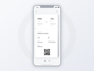 24 Boarding Pass mono stylish board sns ux ui typography sketh simple minimal app minimal materialdesign inspiration gradient app design dailyui clean card boarding pass app