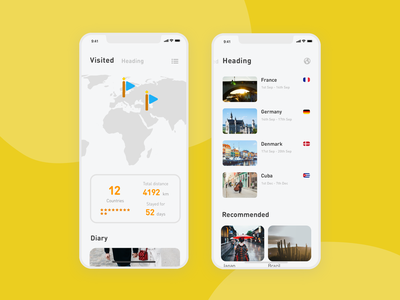 29 Map font stylish cool pretty service trip rounded sns pop yellow ux simple minimal app minimal design clean sketch app ui dailyui