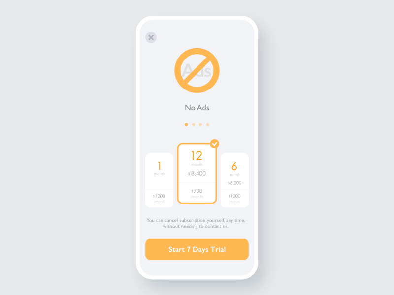30 Pricing application reference gray hire me nice cool stylish pricing price orange ux simple minimal app minimal design clean sketch app ui dailyui