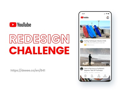 YouTube Redesign Challenge research usability video app app product design information design minimal clean ux design youtube redesign