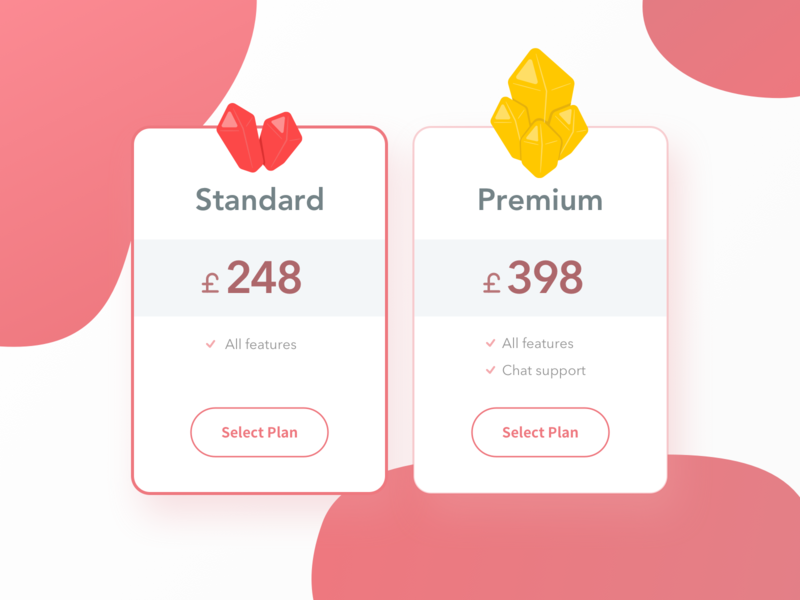 30 Pricing 2 inpiration game pop pretty illustration red modern price list pricing illustrator sns simple minimal app design minimal app sketch clean ui dailyui